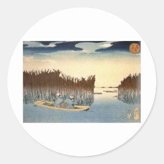 Kuniyoshi - UKIYOE- Classic Round Sticker