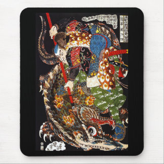Kuniyoshi UTAGAWA, 'Miyamoto Musashi mountain Mouse Pad
