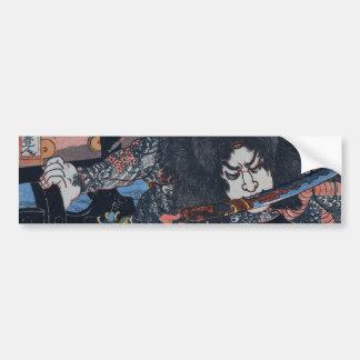 Kuniyoshi's Assassin! Car Bumper Sticker