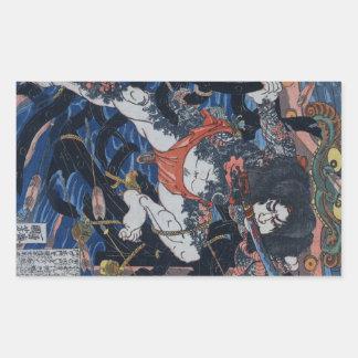 Kuniyoshi's Assassin! Rectangular Sticker