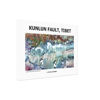 Kunlun Fault Tibet Geography Picture Earth Canvas Print