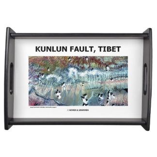 Kunlun Fault Tibet Geography Picture Earth Serving Tray