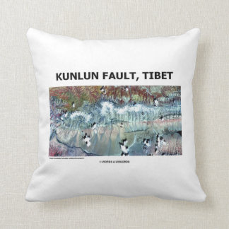 Kunlun Fault Tibet Geography Picture Earth Throw Pillow