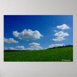 Kunstdruck nubes cielos de nube poster