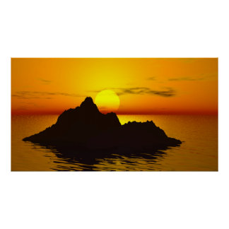 Kunstdruck  Poster  Fineartprint   Sonnenuntergang