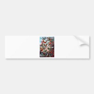 Kunstformen Der Natur Hummingbird Interpreted Bumper Sticker
