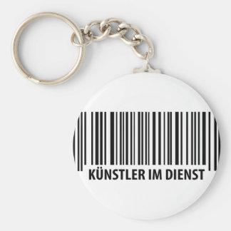 Künstler im Dienst Barcode icon Keychain