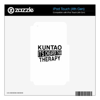 KUNTAO IT'S CHEAPER THAN THERAPY iPod TOUCH 4G DECAL
