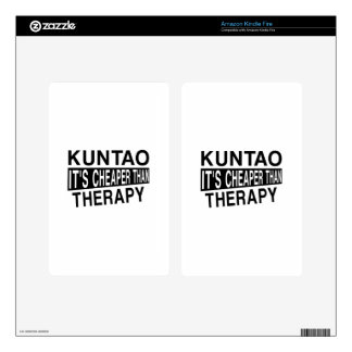 KUNTAO IT'S CHEAPER THAN THERAPY KINDLE FIRE SKIN