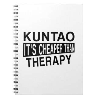 KUNTAO IT'S CHEAPER THAN THERAPY SPIRAL NOTEBOOK