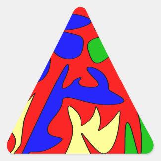Kunterbunt Triangle Sticker