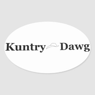 Kuntry Dawg Mark on Decal Oval Sticker