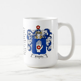 Kuntz, the Origin, the Meaning and the Crest Coffee Mug