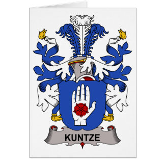 Kuntze Family Crest Card