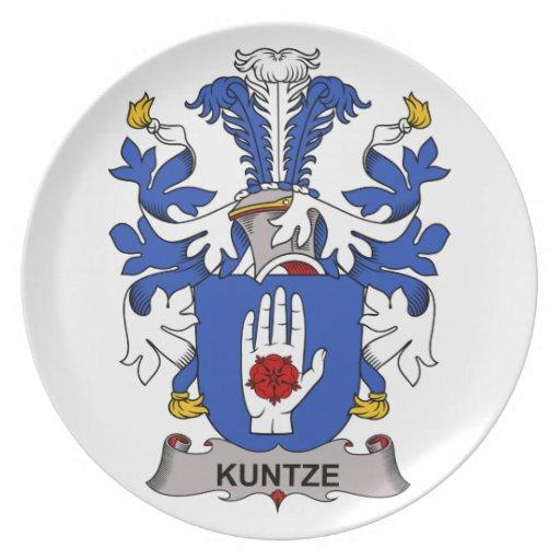Kuntze Family Crest Dinner Plates