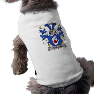 Kuntze Family Crest Dog T Shirt