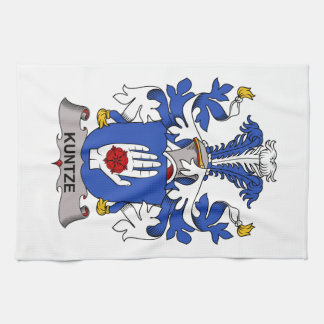 Kuntze Family Crest Hand Towels