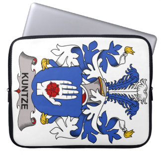 Kuntze Family Crest Laptop Computer Sleeve