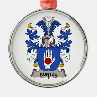 Kuntze Family Crest Christmas Tree Ornaments