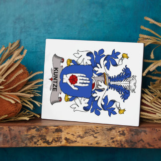 Kuntze Family Crest Display Plaques