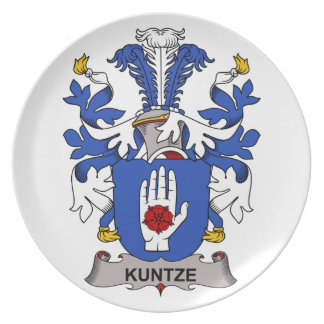 Kuntze Family Crest Dinner Plate