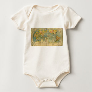 Kunyu Wanguo Quantu 1602 Japanese World Map Baby Bodysuit