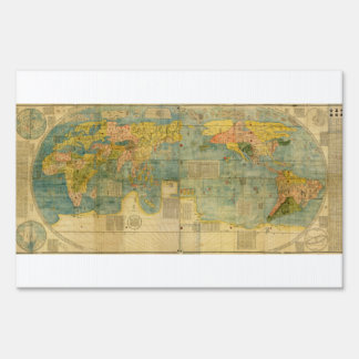 Kunyu Wanguo Quantu 1602 Japanese World Map Lawn Sign