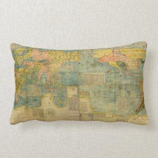 Kunyu Wanguo Quantu 1602 Japanese World Map Pillows
