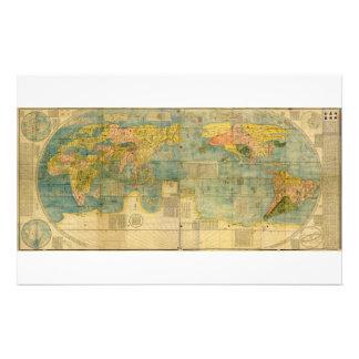 Kunyu Wanguo Quantu 1602 Japanese World Map Stationery