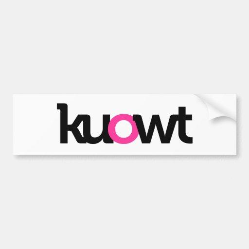 kuowt etiqueta de parachoque