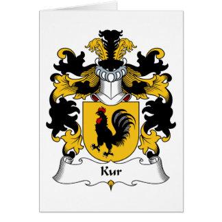 Kur Family Crest Greeting Card