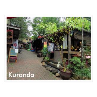 kuranda market stalls postcard