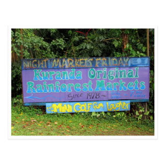 kuranda markets sign postcard