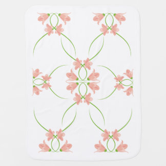 Kurbits baby Blanket - Pink flowers
