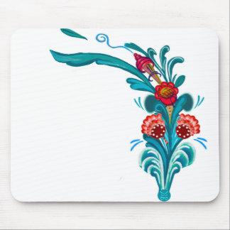 Kurbits flower design mouse pad
