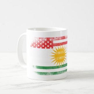Kurdish American Flag   Kurdistan and USA Design Coffee Mug