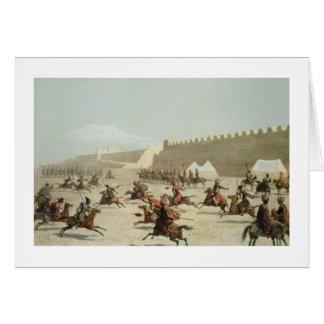 Kurdish and Tatar Warriors at Sadar Abbat Armenia Cards