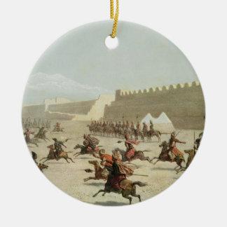 Kurdish and Tatar Warriors at Sadar Abbat, Armenia Ceramic Ornament