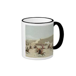 Kurdish and Tatar Warriors at Sadar Abbat, Armenia Ringer Coffee Mug