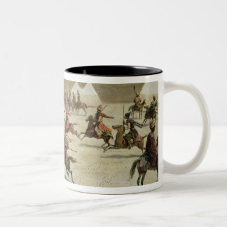 Kurdish and Tatar Warriors at Sadar Abbat, Armenia Two-Tone Coffee Mug