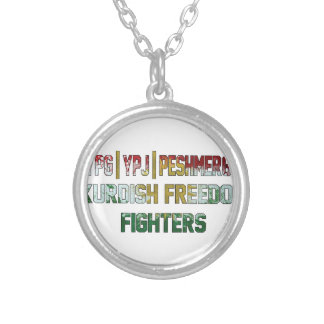 Kurdish Freedom Fighters Silver Plated Necklace