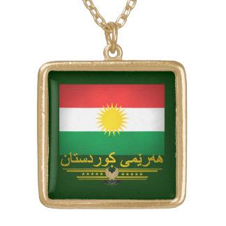 """Kurdish Pride 2"" Square Pendant Necklace"