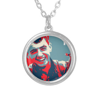 Kurdish YPG Fighter 2 art 2 Silver Plated Necklace