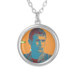 Kurdish YPG Fighter art 2 Silver Plated Necklace