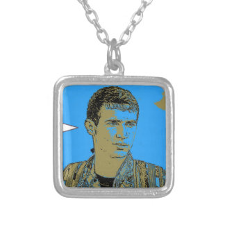 Kurdish YPG Fighter art 4 Silver Plated Necklace