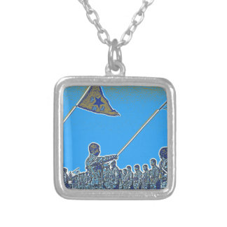 Kurdish YPG - YPJ Figters of Rojava Kurdistan Post Silver Plated Necklace