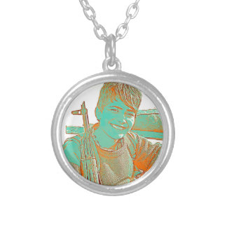 Kurdish YPJ Fighter 3 art Silver Plated Necklace