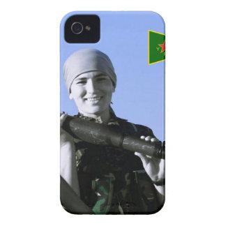 Kurdish YPJ Fighter 4 art iPhone 4 Case