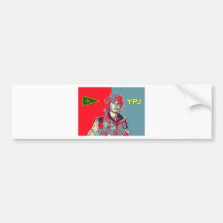 Kurdish YPJ Fighter art 2 Bumper Sticker