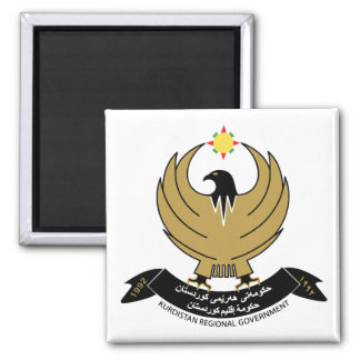 Kurdistan Coat of Arms 2 Inch Square Magnet